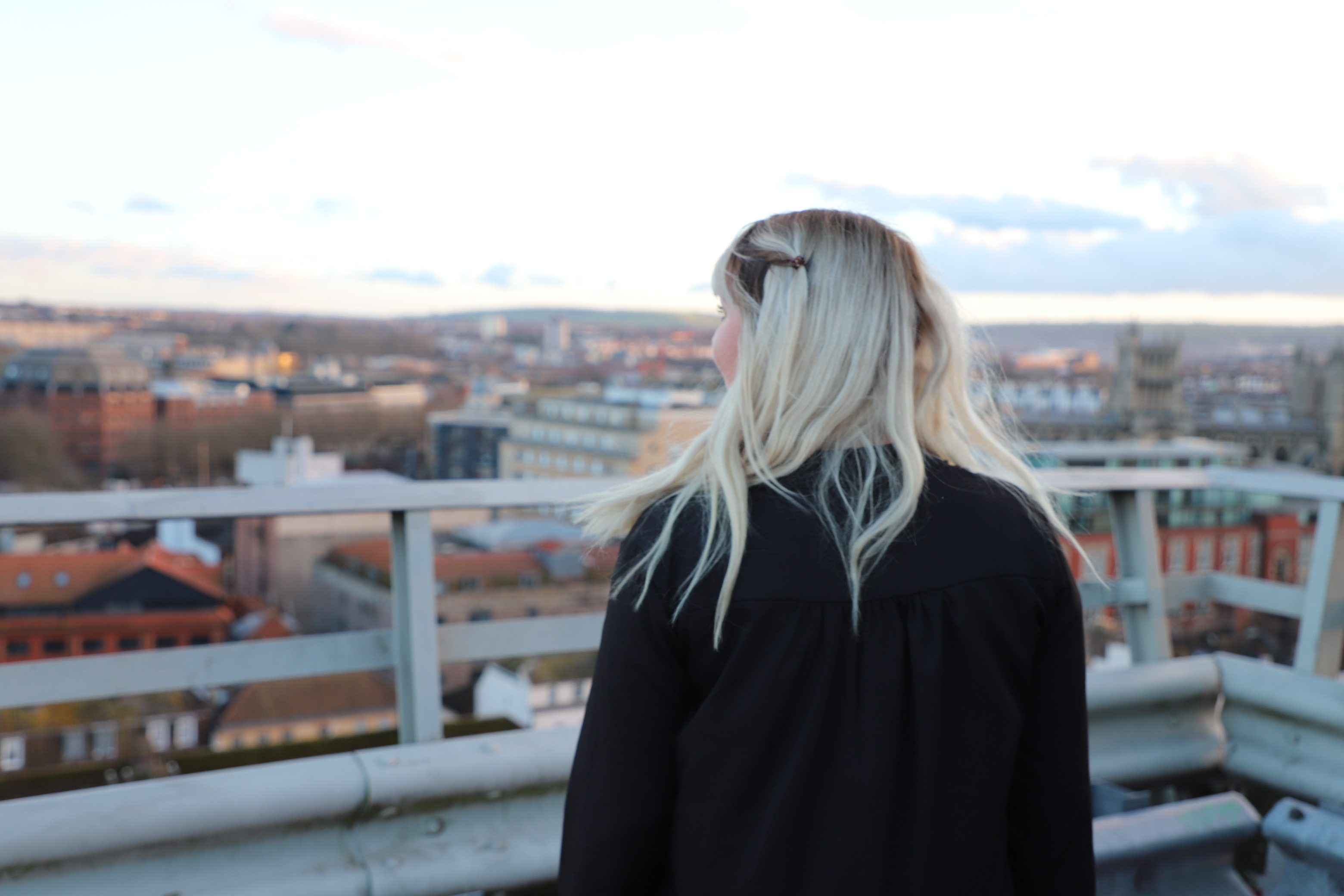 Me on top of carpark looking out over Bristol
