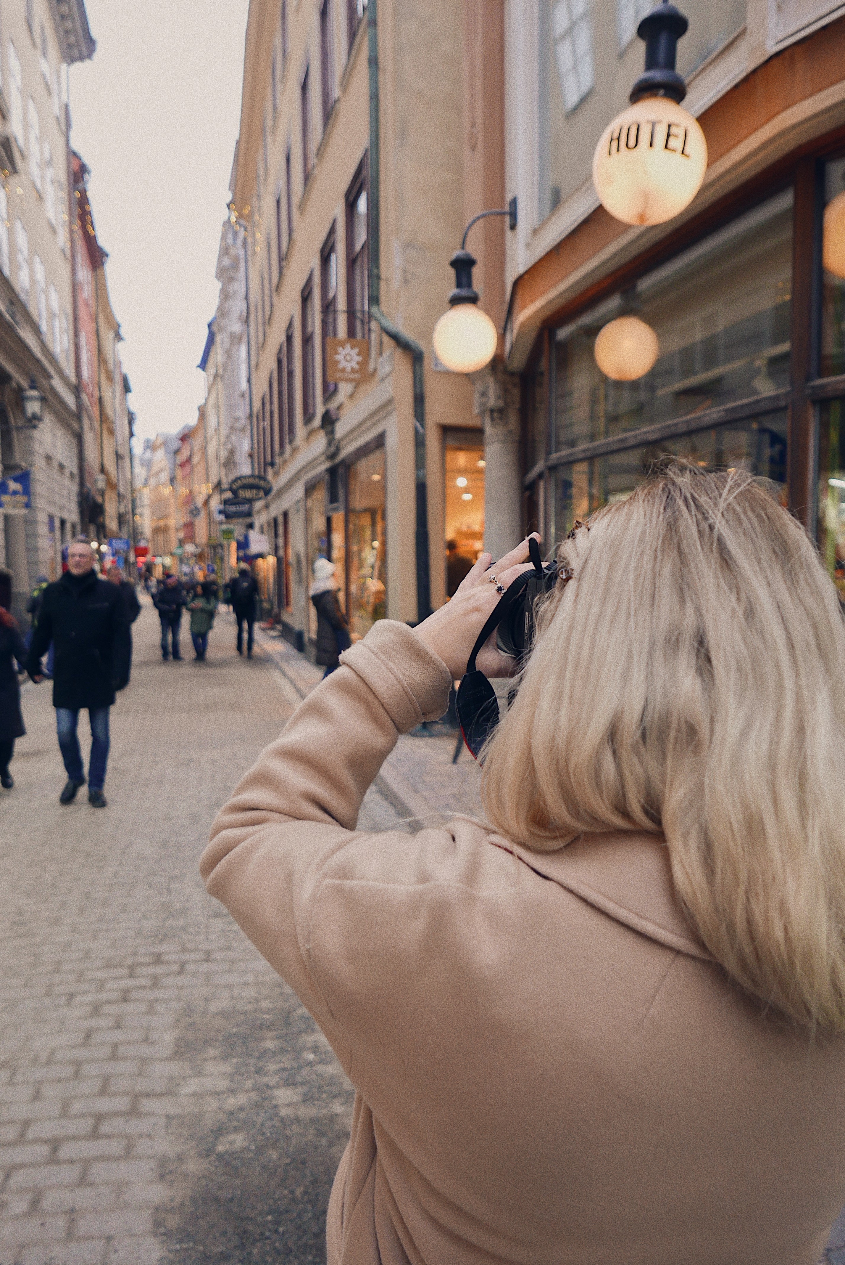 Taking photos in Stockholm